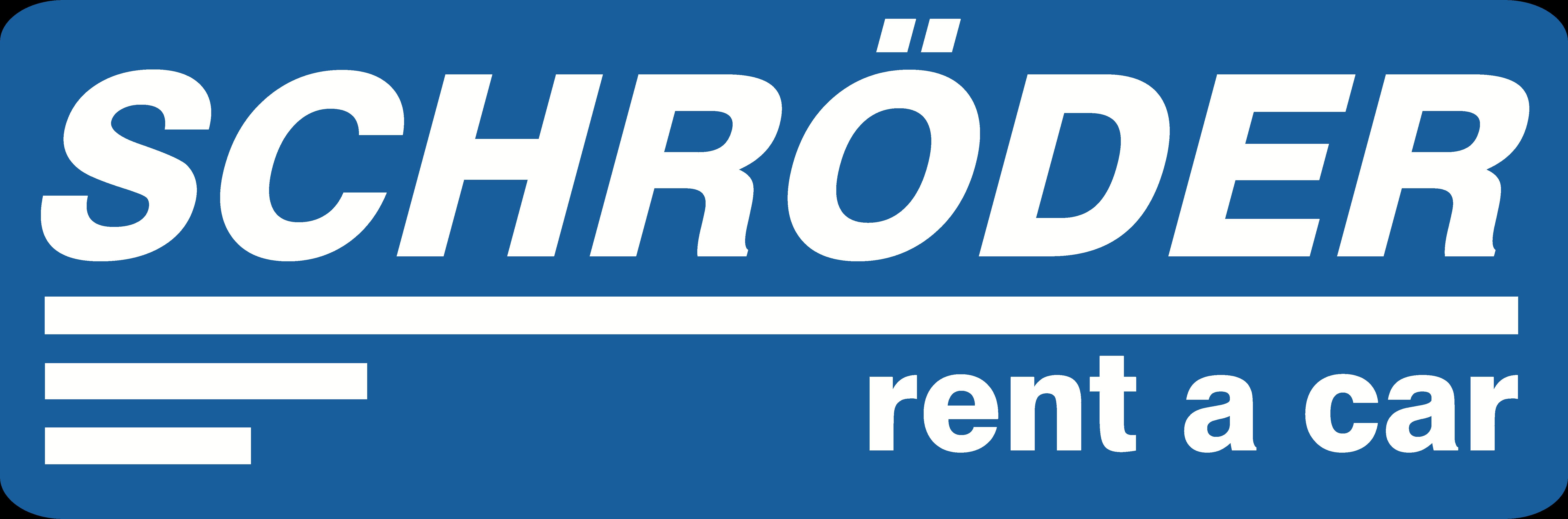Schröder rent a car – Die blaue Autovermietung Logo